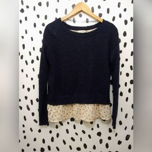 Maison Jules mixed media ladybug hearts sweater